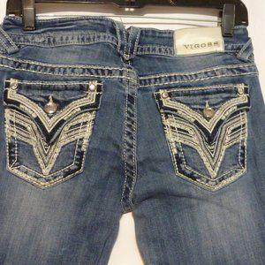 VIGOSS  NY Distressed Stretch Denim Boot Cut Jeans
